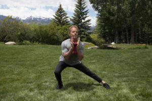 lateral lunge demonstration