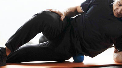 using ball to help with back pain