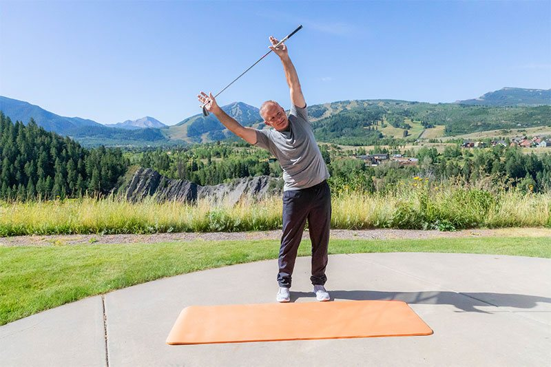 good stretch for golfers
