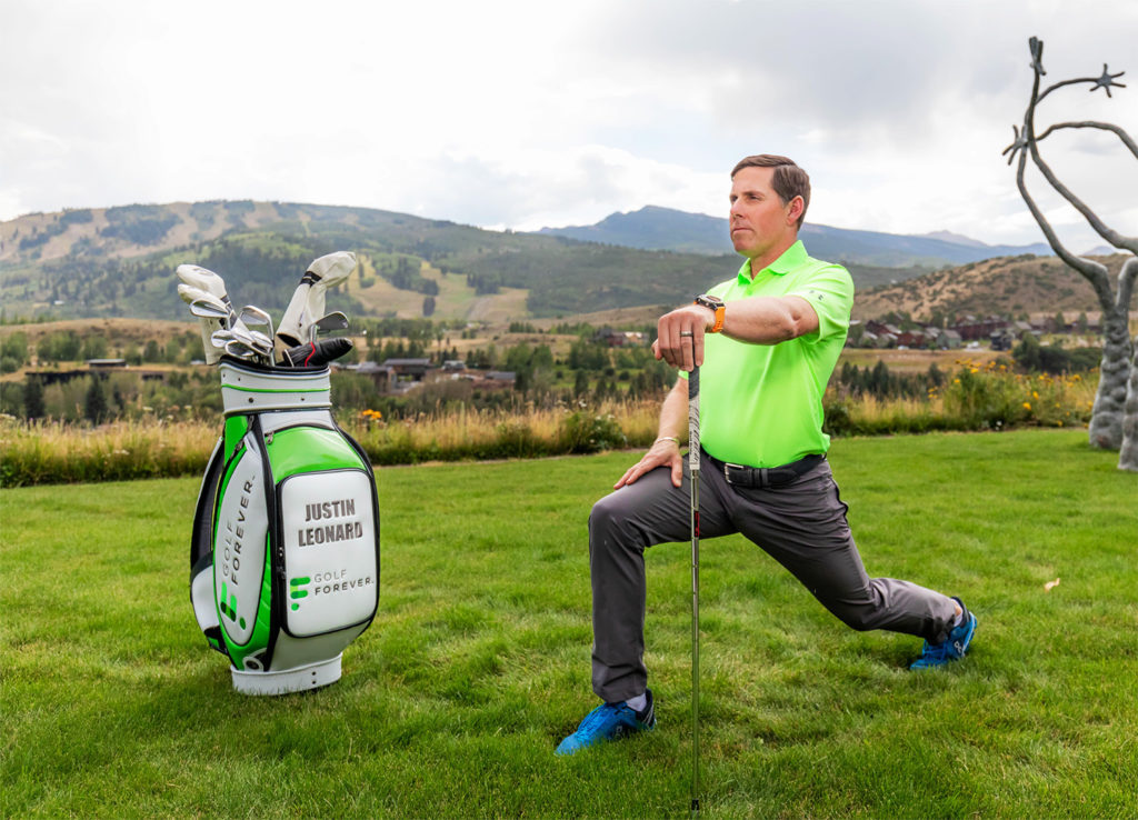 GOLFFOREVER digital golf fitness program an ambassador, Justin Leonard